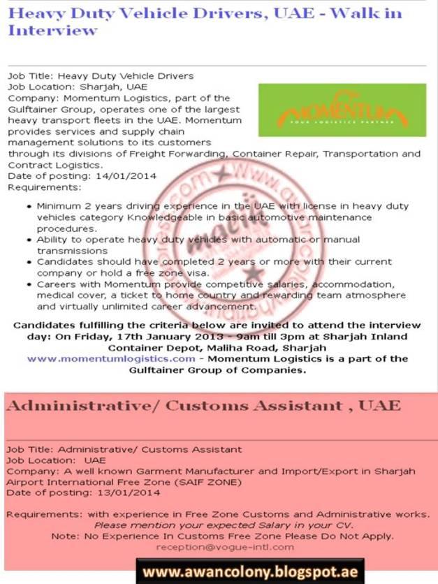 Light Vehicle Driver Jobs In Sharjah