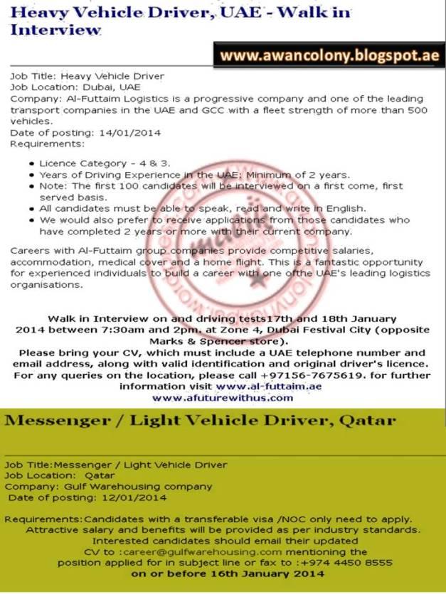 Heavy Duty Driver Job Vacancies At Al Futtaim Doha Qatar